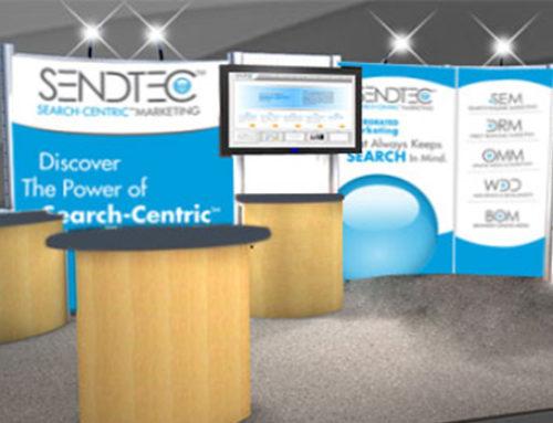 Print SendTec Tradeshow Booth Rebrand